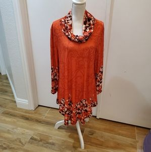 Lily by Firmiana long sleeve Cowl neck tunic NWT